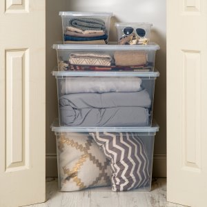 Mainstays 5-Piece Closet Organization Kit, Clear