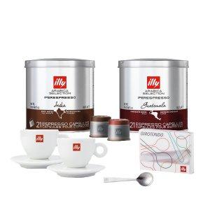 IllyNespresso 咖啡胶+杯具5件套
