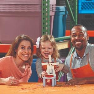 制作 风车磨坊小花架预告:5月The Home Depot 免费的儿童手工作坊活动