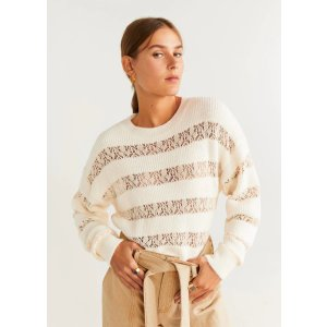 MangoLace panels sweater - Women | OUTLET USA