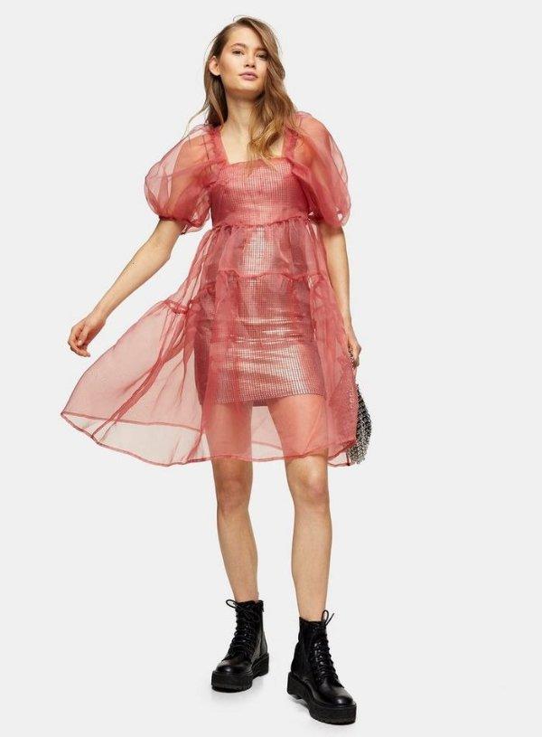欧根纱连衣裙