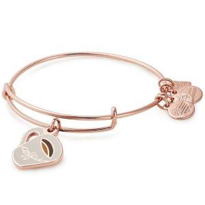 Alex and AniBuy 2 bracelets get 1 freeCoffee Mug Charm Bangle Bracelet - Shiny Rose Gold Finish