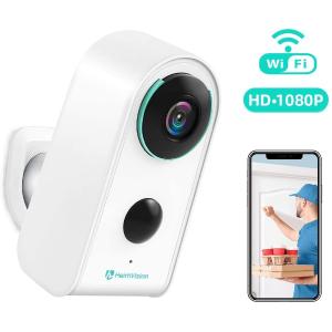 售价€89.99 内置电池 WIFI连接HeimVision 无线摄像头 室外监控 红外夜视 1080P高清