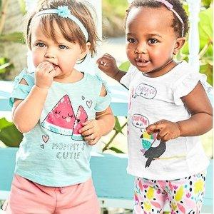 低至2.7折+额外7折  儿童T恤$2.09Carter's 童装全场大促 清仓区区折上折白菜价