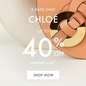 6折起 €189收墨镜限今天:Chloe 48小时私密闪促 入小猪包、网红菜篮子、小香风穿搭等