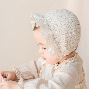婴儿蕾丝头帽