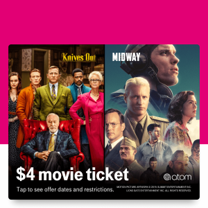 $4 Movie TicketsT-Mobile Tuesdays Midway
