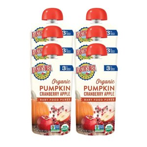 Buy 5 save $5Earth's Best Organic Stage 3, Pumpkin, Cranberry & Apple, 4.2 Ounce Pouch (Pack of 6)
