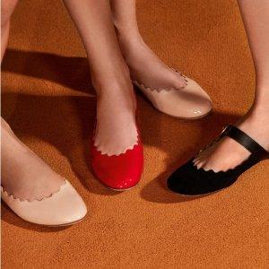 低至5折 £227收封面款花瓣平底鞋CHLOÉ 女孩的挚爱之选 超多美鞋再续迷人优雅