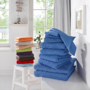 5折+新用户立减15欧居家必备 10条居家毛巾仅€9.99 柔软吸水高颜值