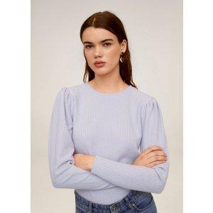 MangoPuffed sleeves t-shirt - Women | OUTLET USA