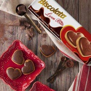 $7.49 每盒$2.49Biscolata 心形榛果巧克力饼干半价 3盒