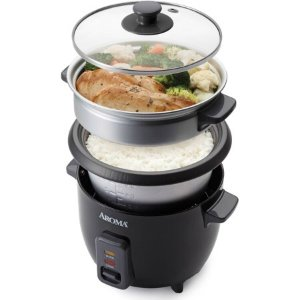 Aroma 6 Cup Rice Cooker And Food Steamer Black At Walmart