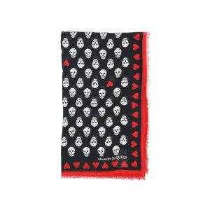Alexander McQueen骷髅围巾