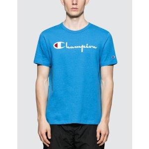 Champion Reverse Weave电光蓝logoT恤