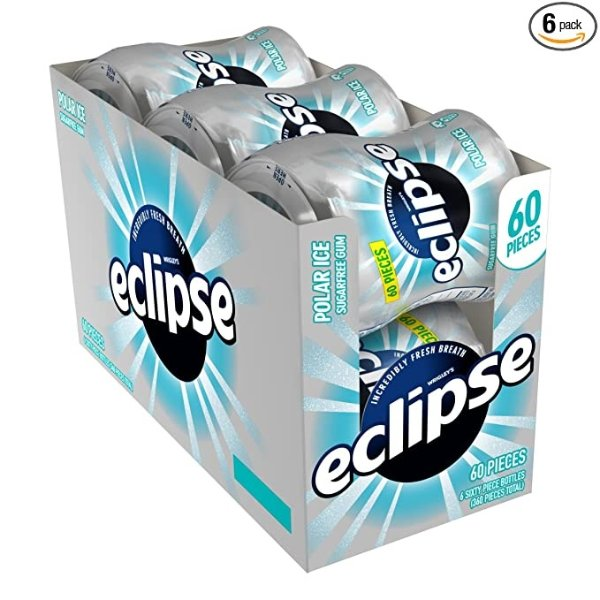 Eclipse 极地冰无糖口香糖,6罐