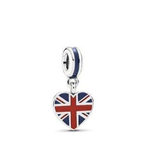 PandoraGreat Britain Heart Flag Pendant Charm