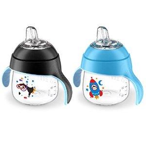 可爱小企鹅水杯 7盎司 2个装