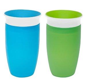 $9.03 销量冠军Munchkin Miracle 360° 防泼洒儿童饮水杯 300ml 两个装