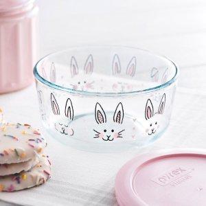 Corelle4 Cup兔子图案玻璃保鲜碗