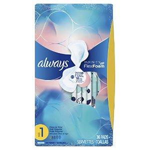 $15.36 干爽舒适超吸收Always Infinity 液体卫生巾 多种长度可选