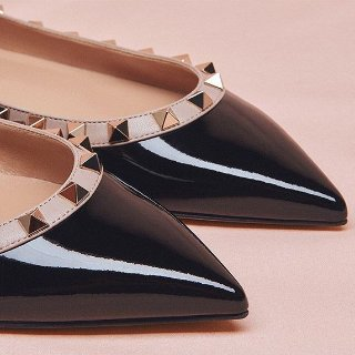 低至3.7折+免邮 $321收经典铆钉鞋Valentino 美包美鞋折扣热卖 小仙女爱牌,闪闪惹人爱