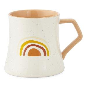 彩虹图案咖啡杯