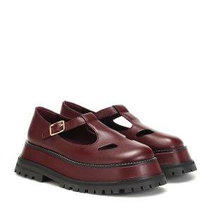 Burberry玛丽珍乐福鞋