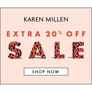 低至5折+额外8折! £40起收毛衣Karen Millen 英伦淑女风美裙美衣、鞋包换季大促!