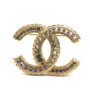 Chanel水钻胸针