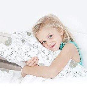 $11.96  美亚4.7超高分好评儿童有机棉枕头,13X18英寸,符合人体工程学设计
