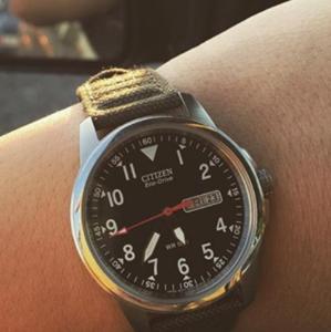 7.2折 + 包邮 实用与时尚兼备Citizen Eco-Drive 时尚帆布带腕表