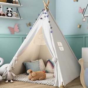 Sumbababy Teepee Tent for Kids with Carry Case