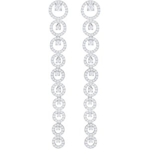 Creativity Pierced Earrings, White, Rhodium plating exclusively on Swarovski.com