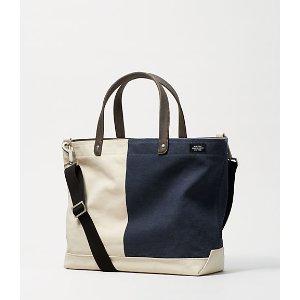 Industrial Canvas Bi-Color Coal Bag