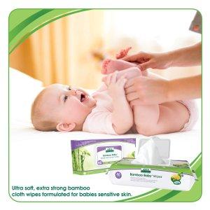 $20.87 (原价$29.99 )Aleva Naturals 有机竹纤维宝宝湿巾 80张x6包