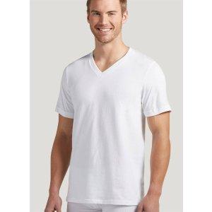 白色V领打底衫 12件装