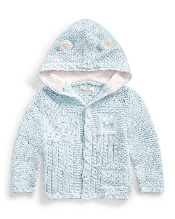 婴儿熊宝宝针织开衫