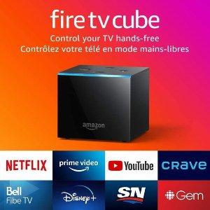 $119.99(原价$149.99)Fire TV Cube 智能电视盒 语音控制 随意切换电视节目