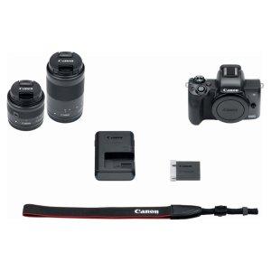 $929.99 (原价$1249.99)Canon EOS M50 无反 + 15-45mm & 55-220mm 套头