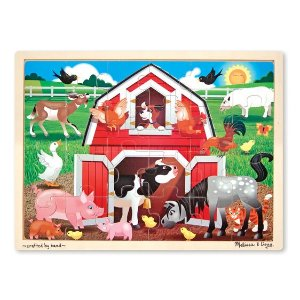 Melissa and DougBuy One Get Another 50% OffBarnyard Buddies Wooden Jigsaw Puzzle - 24 Pieces