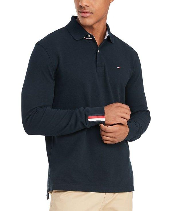 男士polo长袖衫