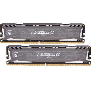 $124.99 补货Ballistix Sport LT 32GB (2 x 16GB) DDR4 3200 C16 内存