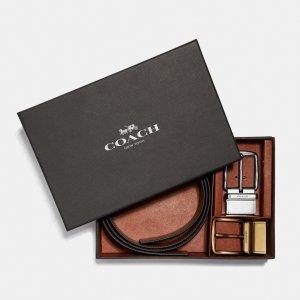 低至5折+€250送精美卡包圣诞礼物:Coach 腰带专区 男女款都有 礼盒装仅€97