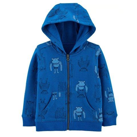 $10Carter's Toddler Boy Zip-Up Fleece-Lined Hoodie