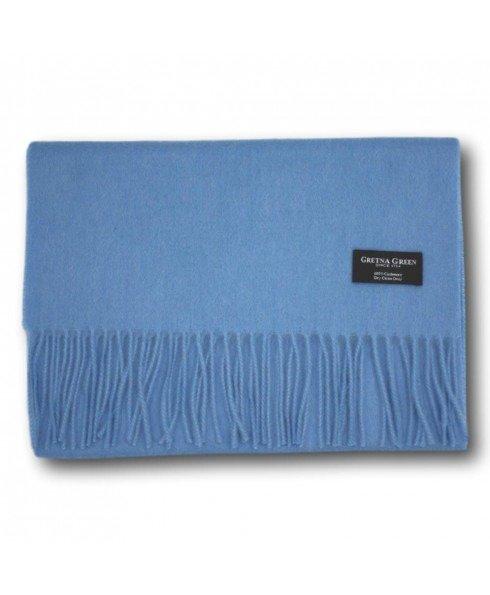 蓝色羊绒围巾