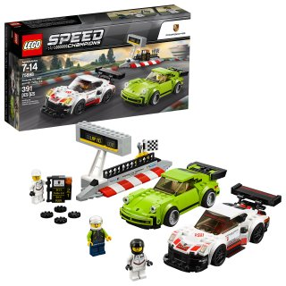 $19.99 (原价$29.99)乐高 Speed Champions Porsche 911 RSR + 911 Turbo 3.0 75888