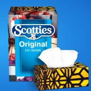 $5.69(原价$7.99)Scotties Original 2层面巾纸 126张 x 6盒 皮肤科医生推荐