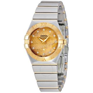 $3125 国内公价¥35900独家:Omega 星座系列18K金镶钻奢华女表
