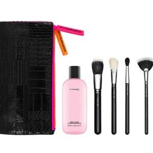 MAC化妆刷套装4.5折!4把明星刷+正装清洁液+刷子包!